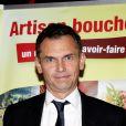 Christophe Jakubyszyn lors de la 2ème édition du Pot-au-feu des célébrités au restaurant le Louchebem, organisée par les Fédérations des Artisans Bouchers d'Ile-de-France à Paris le 17 octobre 2013