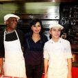 Rachida Dati lors de la 2ème édition du Pot-au-feu des célébrités au restaurant le Louchebem, organisée par les Fédérations des Artisans Bouchers d'Ile-de-France à Paris le 17 octobre 2013