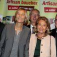 Marielle de Sarnez et Sophie de Menthon lors de la 2ème édition du Pot-au-feu des célébrités au restaurant le Louchebem, organisée par les Fédérations des Artisans Bouchers d'Ile-de-France à Paris le 17 octobre 2013