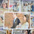 Le baptême du prince George de Cambridge, le 23 octobre 2013, faisait évidemment la une de la presse britannique le lendemain.