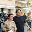 Bernard Tapie et sa femme Dominique à Saint-Tropez le 19 juillet 2004.