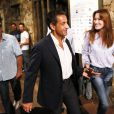 Nicolas Sarkozy et son épouse Carla Bruni au concert de Julien Clerc à Ramatuelle, le 3 août 2009.