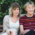 Valeria Bruni-Tedeschi et sa mère Marisa Bruni-Tedeschi à Rome, le 22 octobre 2013.