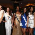 Les participantes à Miss Univers au restaurant Zafferano à Moscou. Le 25 octobre 2013.