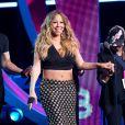"""Mariah Carey sur la scène du """"Black Girls Rock"""" au NJ Performing Arts Center de Newark, le 26 octobre 2013."""