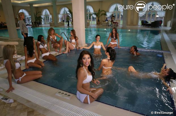 Les participantes à Miss Univers 2013 en shooting photo à Moscou, le 28 octobre 2013