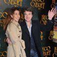 François Cluzet et sa femme Narjiss à Paris lors de l'avant-première du film Hugo Cabret le 7 décembre 2011