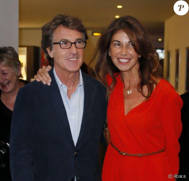 François Cluzet et sa femme Narjiss lors de la présentation du film En solitaire dans le cadre du festival des jeunes réalisateurs de Saint-Jean-de-Luz le 9 octobre 2013
