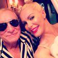 Hugh Hefner et sa femme Crystal en Miley Cyrus et Robin Thicke pour Halloween, le 31 octobre 2013.