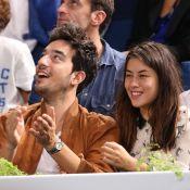 Mylène Jampanoï avec son amoureux Dimitri et cernée par les stars du PSG à Bercy