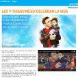 Lionel Messi et son fils Thiago célèbrent la vie : une campagne de sensibilisation sous l'égide de l'UNICEF, à l'automne 2013