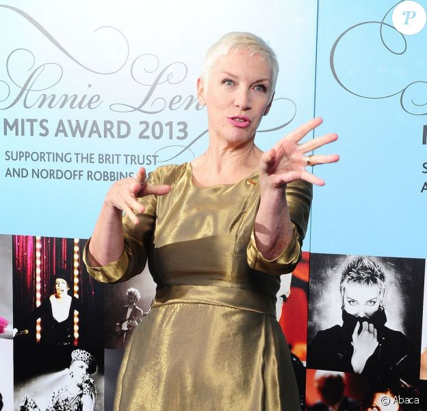 Annie Lennox récompensée par le 22e Music Industry Trusts Award à l'hôtel Grosvenor à Londres, le 4 novembre 2013.
