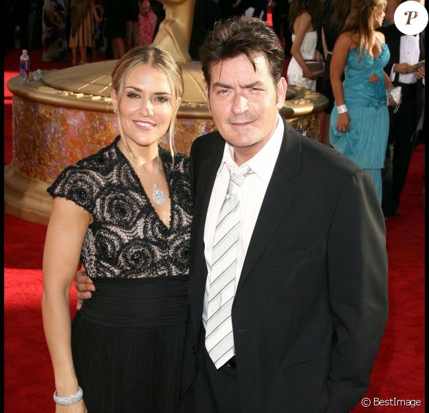 Charlie Sheen et Brooke Mueller, à Los Angeles en septembre 2009.