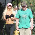 Exclusif - Courtney Stodden fait du jogging avec son mari Doug Hutchison à West Hollywood, le 4 mars 2013.