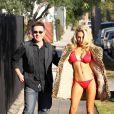 Courtney Stodden et son mari Doug Hutchison à Los Angeles, le 9 décembre 2011.