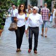 Bernie Ecclestone et sa femme Fabiana Flosi à Milan, le 5 septembre 2013