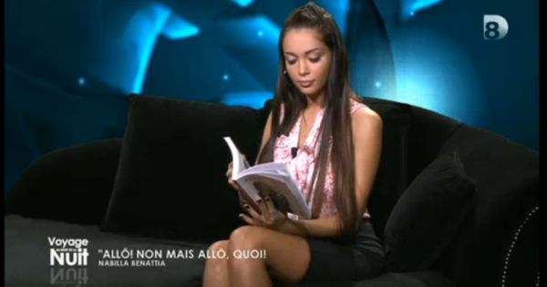 nabilla tr s concentr e dans voyage au bout de la nuit sur d8 le samedi 9 novembre 2013. Black Bedroom Furniture Sets. Home Design Ideas
