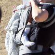 Le petit Rocco, dernier né du couple Donald Faison - CaCee Cobb lors d'une petite marche au parc de Runyon Canyon à Hollywood, le 9 novembre 2013