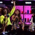 Ariana Grande et Redfoo lors des MTV Europe Music Awards au Ziggo Dome à Amsterdam, le 10 novembre 2013.