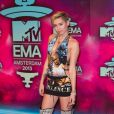 Miley Cyrus lors des MTV Europe Music Awards au Ziggo Dome à Amsterdam, le 10 novembre 2013.