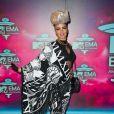 Eva Simons lors des MTV Europe Music Awards au Ziggo Dome à Amsterdam, le 10 novembre 2013.