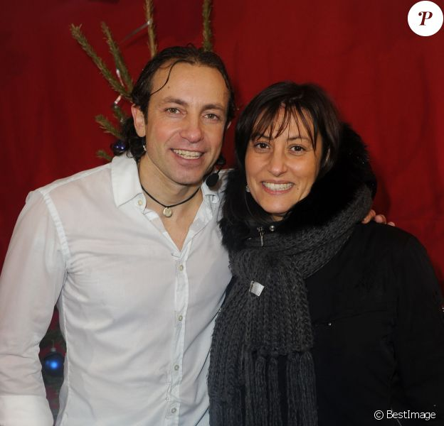Exclusif - Philippe Candeloro et sa femme Olivia en 2012.