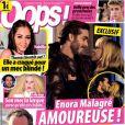 Couverture du magazine Oop's ! en kiosques ce 15 novembre 2013. Enora Malagré s'affiche avec son nouveau compagnon, Gianni Giardinelli