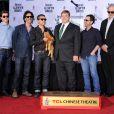 Joel Coen, Oscar Isaac, John Goodman, Ethan Coen et T-Bone Burnett lors de l'hommage de l'acteur au Chinese Theater à Los Angeles le 14 novembre 2013