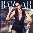 Cindy Crawford en couverture de Harper's Bazaar Brasil. Février 2013.