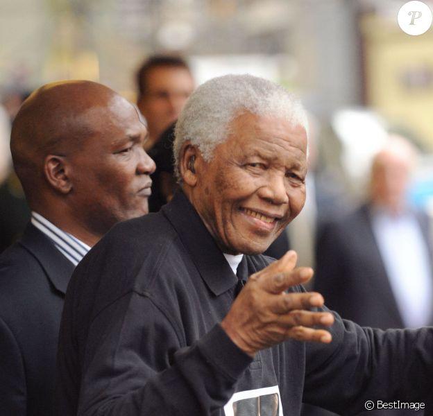 Nelson Mandelaà Londres le 27 juin 2008.