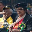 Nelson Mandela et Winnie Madikizela-Mandela à Johannesbourg, le 19 avril 2009.
