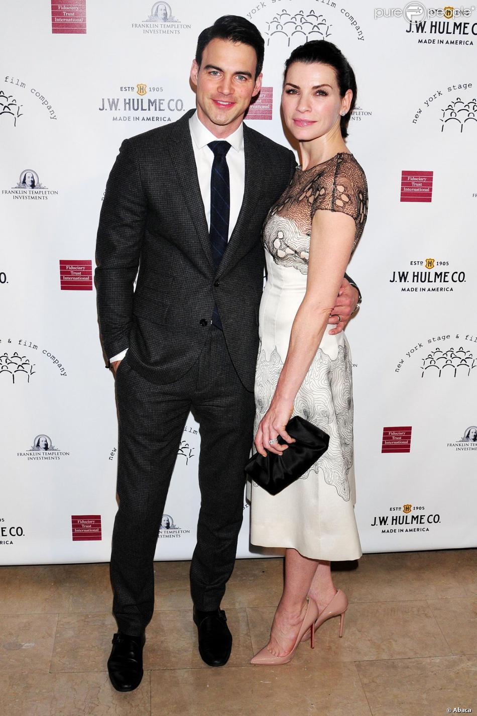 Julianna Margulies et son mari Keith Lieberthal lors du gala New York Stage and Film à l'hôtel Plaza de New York le 17 novembre 2013