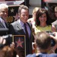 Bryan Cranston, Aaron Paul, Jane Kaczmarek et RJ Mitte sur le Walk Of Fame à Hollywood, le 16 juillet 2013.