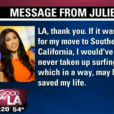 L'animatrice de Fox News 11, Julie Chang, a été diagnostiquée d'une tumeur au cerveau après un accident de surf.