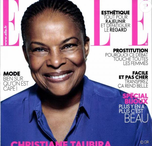 Christiane Taubira en une du magazine Elle, daté du 22 novembre 2013.