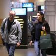 Exclusif - Katie Holmes arrive à l'aéroport du Cap en Afrique du Sud, le 19 novembre 2013, pour le tournage du film The Giver.