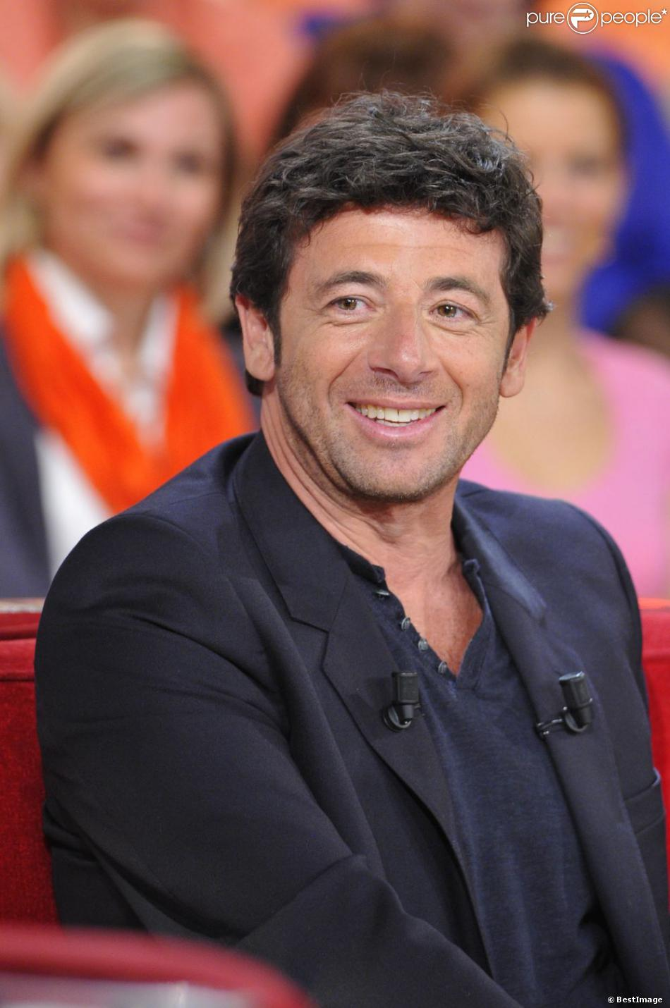 """Patrick Bruel lors de l'enregistrement de l'émission """"Vivement Dimanche"""" à Paris le 20 mars 2013, diffusée le 24 mars"""