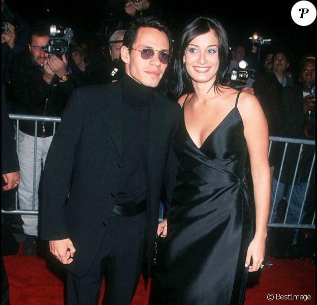 Marc Anthony et Dayanara Torres à New York, le 20 octobre 1999.