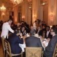 Dîner de gala en soutien à All4kids et Sports Sans Frontières au Shangri-La Hotel le 20 novembre 2013 à Paris.