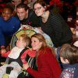 Muriel Hurtis, Sophie Thalmann - Soirée pour la journée de l'association ELA pour fêter Noël à Disneyland Paris, le 30 novembre 2013.