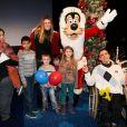 Sophie Thalmann - Soirée pour la journée de l'association ELA pour fêter Noël à Disneyland Paris, le 30 novembre 2013.