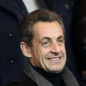 PSG-OL : Nicolas Sarkozy et Michel Denisot heureux devant Clovis Cornillac déçu