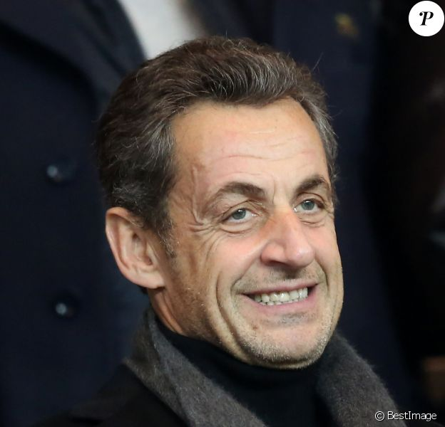 Nicolas Sarkozy au Parc des Princes à Paris le 1er decembre 2013 lors du match entre le PSG et l'OL (4-0).