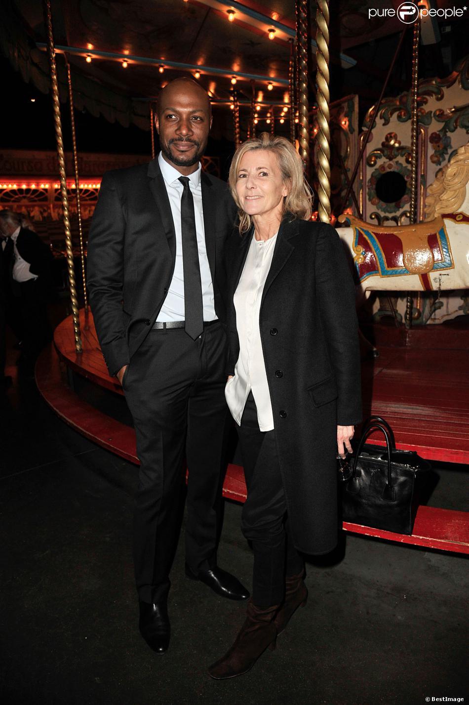 Harry Roselmack et Claire Chazal au gala de la Fondation Mimi le 30 novembre 2013.