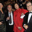 Linda Hardy, Daniel Colas, Macha Meril et Jacques Perot  au gala de la Fondation Mimi le 30 novembre 2013.