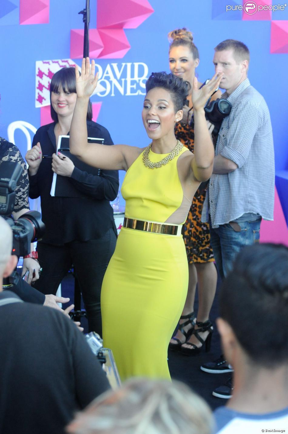 Alicia Keys arrive à l'Event Centre de l'hôtel The Star pour la cérémonie des ARIA Awards 2013. Sydney, le 1er décembre 2013.
