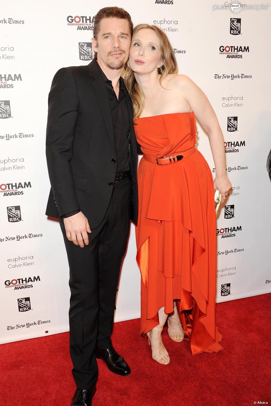 Ethan Hawke, Julie Delpy lors de la 23 cérémonie des Gotham Independent Film Awards à New York le 2 décembre 2013.