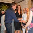 Cindy Crawford et son mari Rande Gerber assistent à l'inauguration du CQ Lounge, à l'aube du Art Basel Miami Beach 2013. Miami, le 3 décembre 2013.