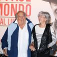 Georges Lautner et sa compagne Martine lors de la soirée en hommage à Jean-Paul Belmondo dans le cadre du Festival Lumière à Lyon le 14 octobre 2013