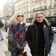 Marie-Christine Adam et Francois-Eric Gendron lors de l'hommage au cinéaste Georges Lautner, organisé à Paris en l'église Saint-Roch le 5 décembre 2013